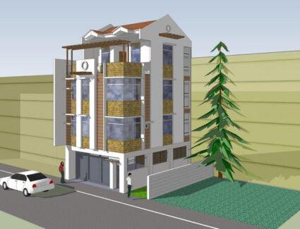3 storey building