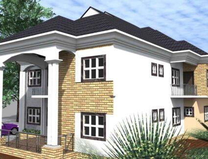 6 bedroom duplex house plan