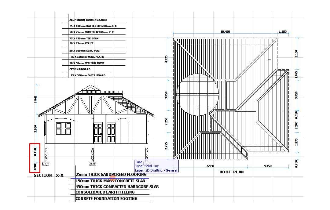 Nigeria house plan section