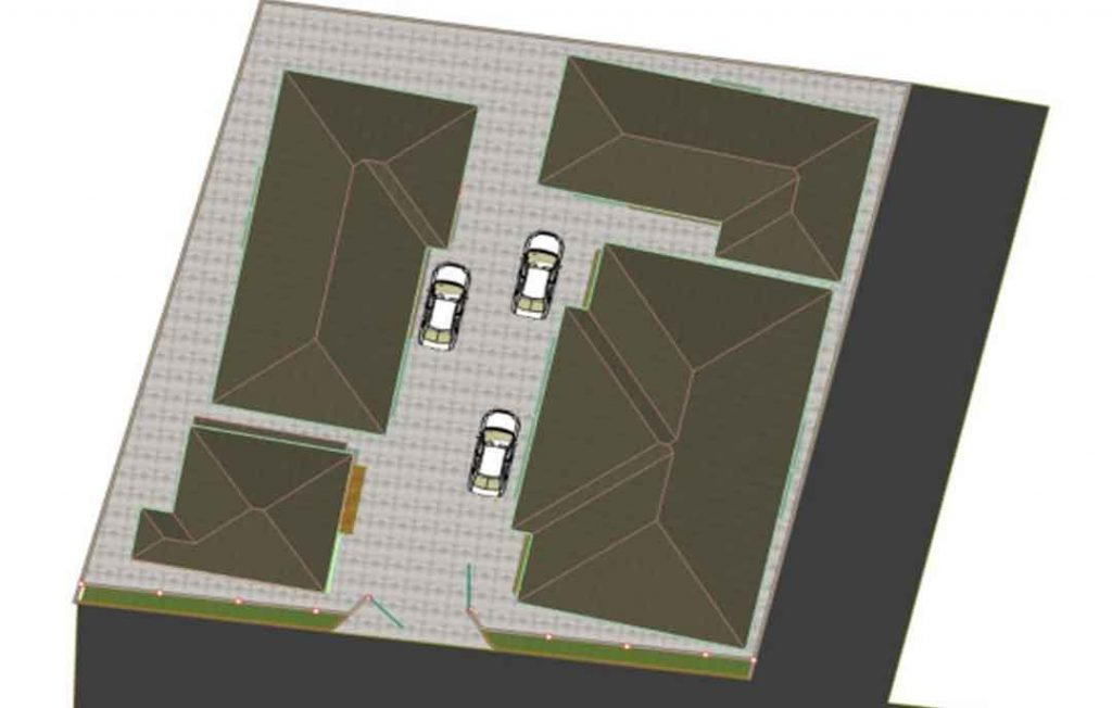 house plan drawing landscape