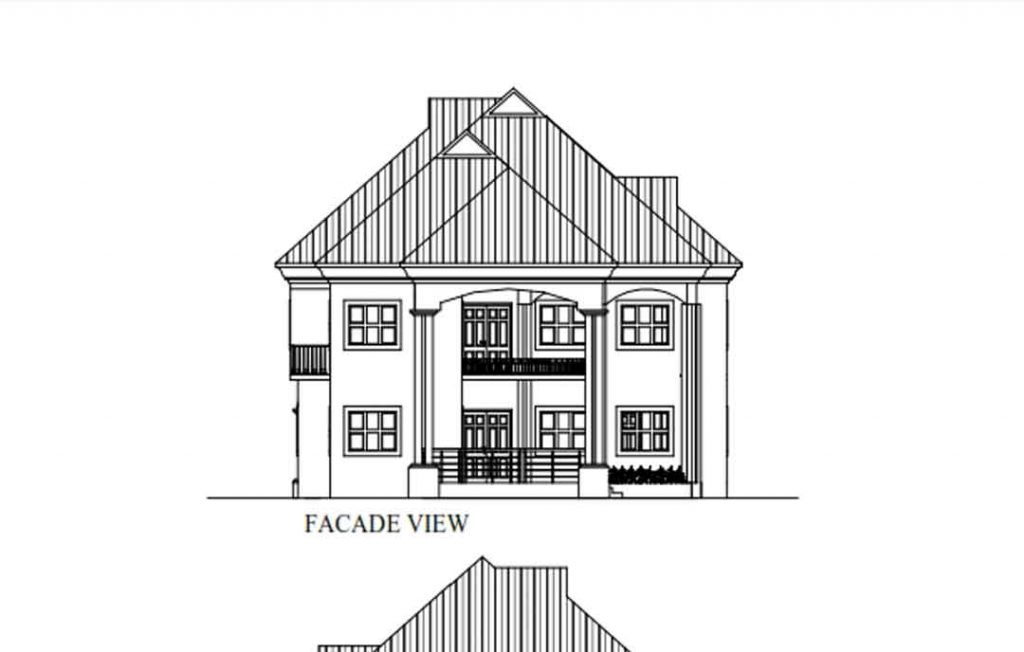 house plan drawing elevation