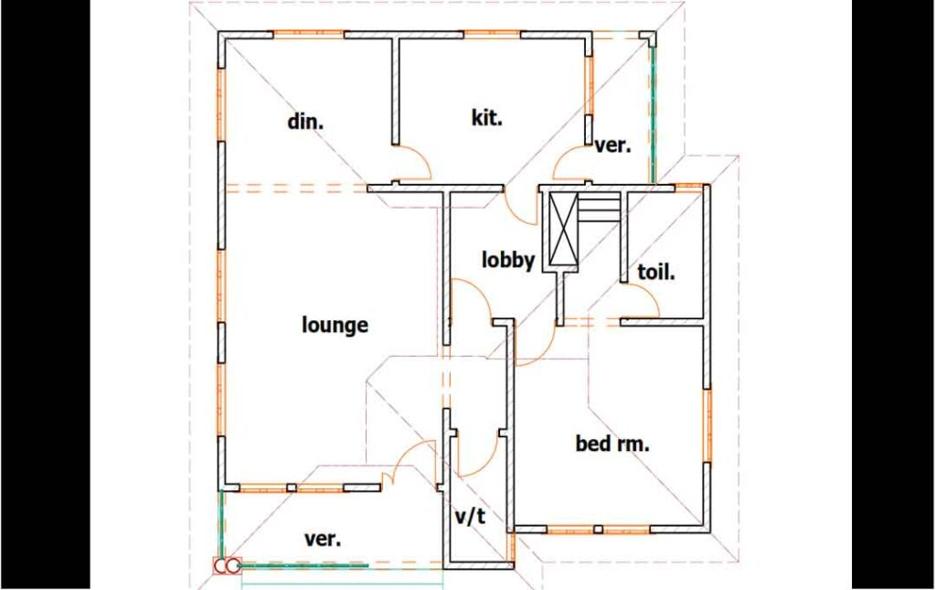 house plan one bedroom syle