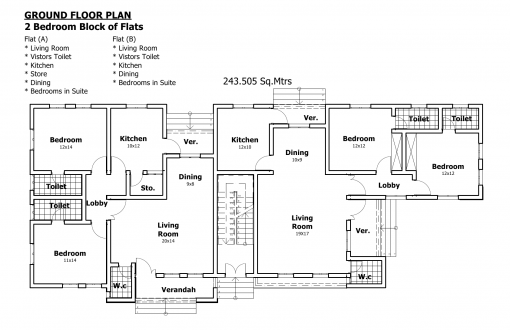 Nigeria house plans floor plan