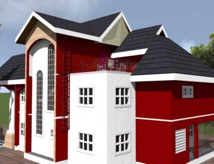 4 bedroom duplex house plan