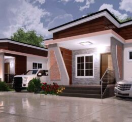2 and 1 bedroom semi detached Nigerian house plan