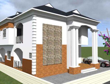 3 bedroom duplex house plan
